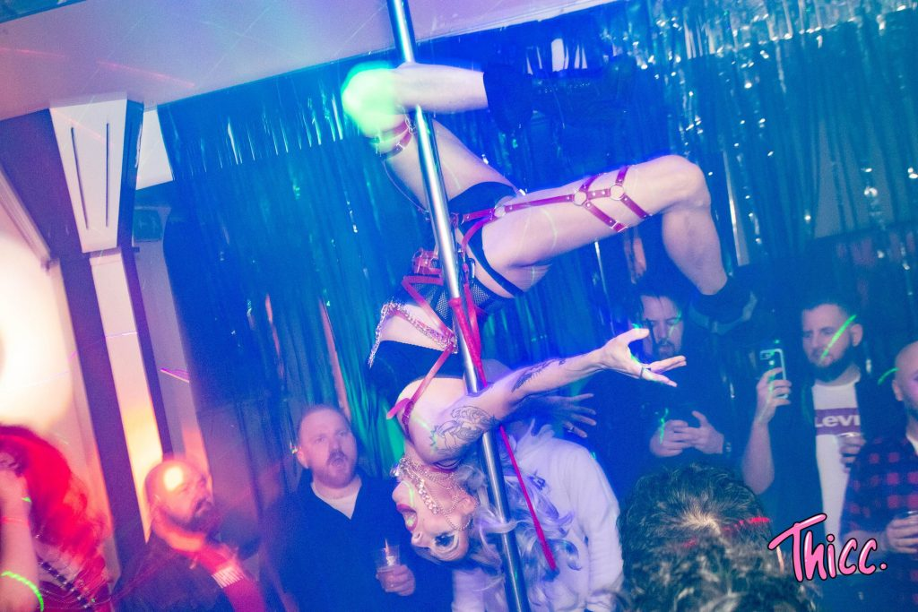 Pole Dancing drag queen in East London