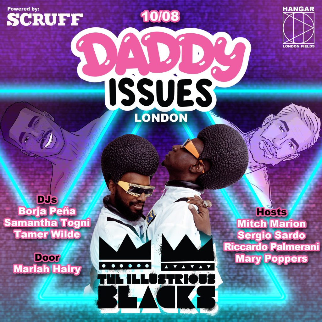 Daddy Issues club night poster design with the illustrious blacks