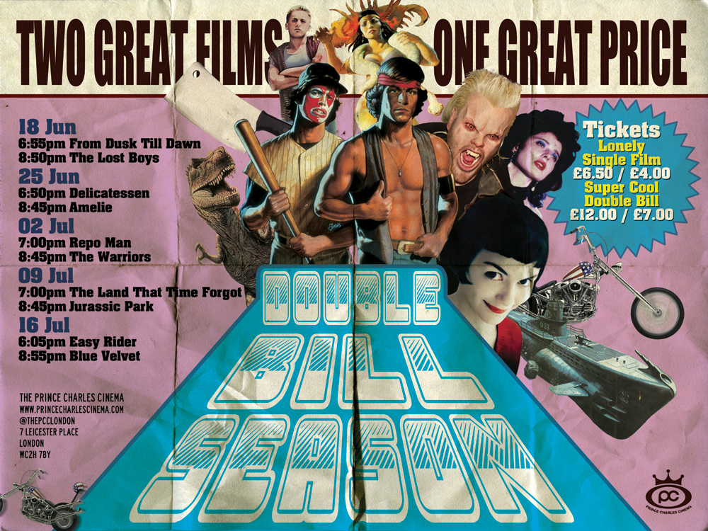 poster for a double bill season at the prince charles cinema