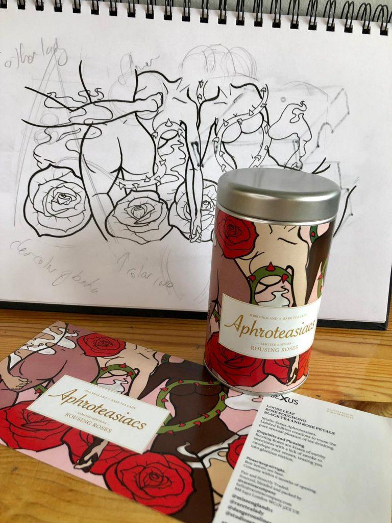 illustration of a tea label